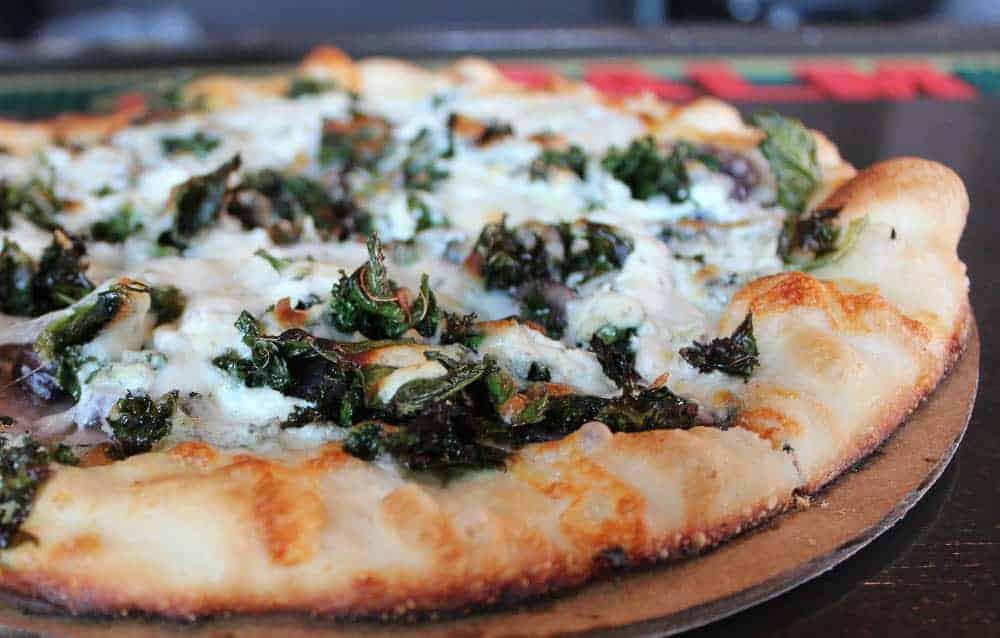 seasonal pizza at Fireside Pizza