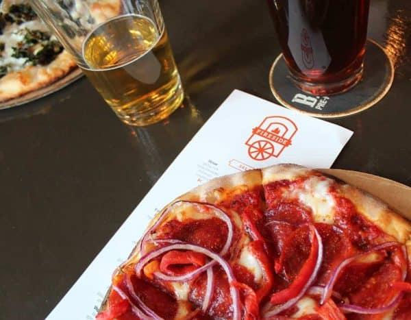 The Redlegger Pizza at Fireside Pizza in Walnut Hills
