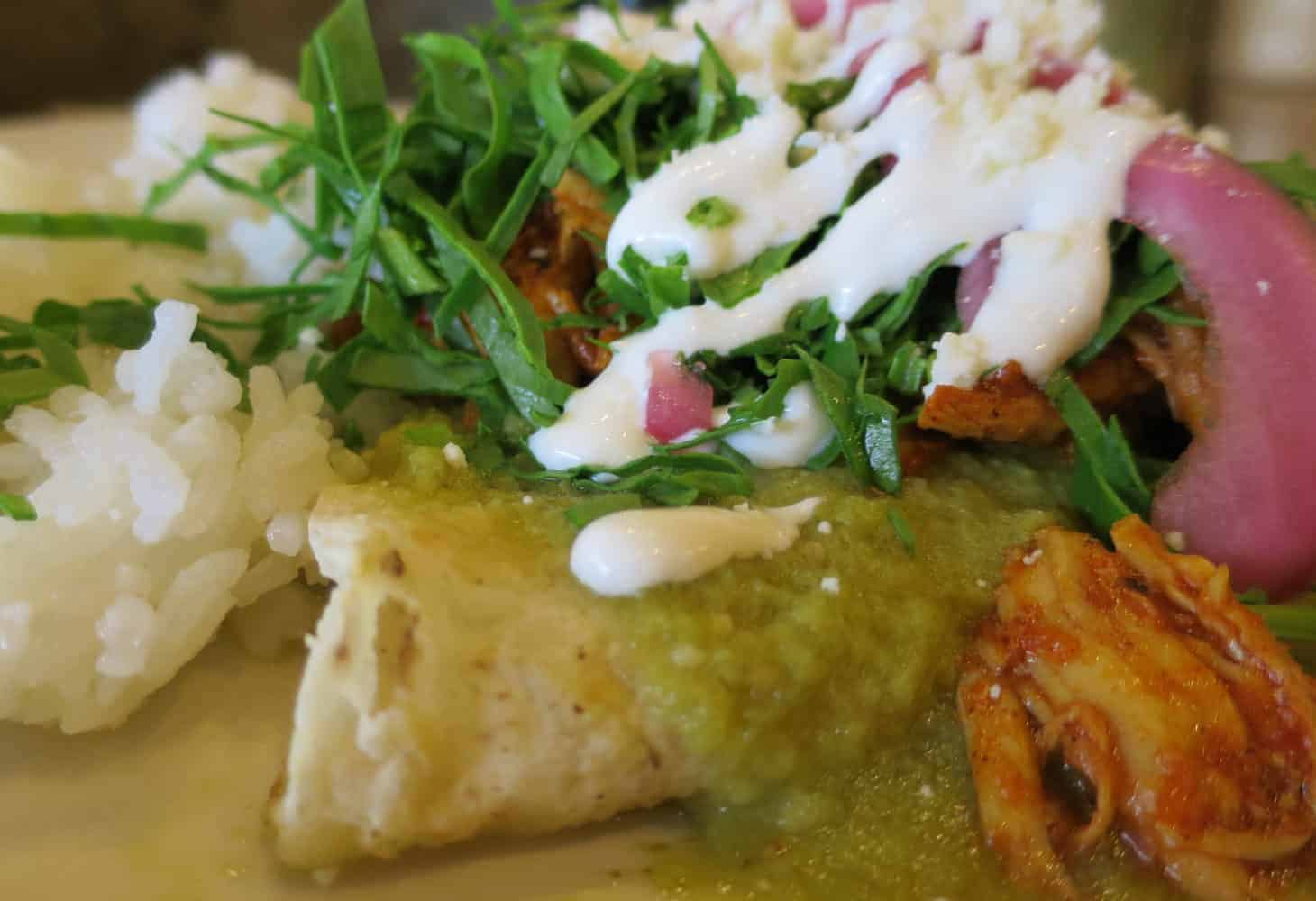 Enchiladas at Mazunte