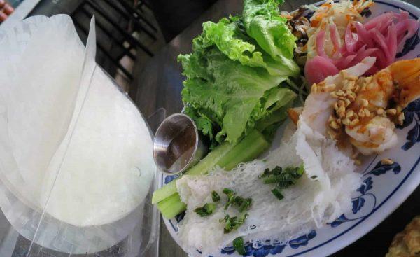 DIY Salad Rolls at Quan Hapa