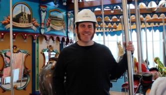 Jonathan Queen at Carol Ann's Carousel in Cincinnati