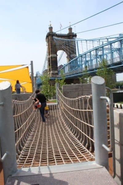 The Rope Bridge at Great Adventure Playground