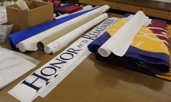 The makings of new flags at National Flag Co.
