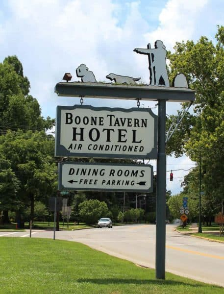 Boone Tavern sign in Berea Ky