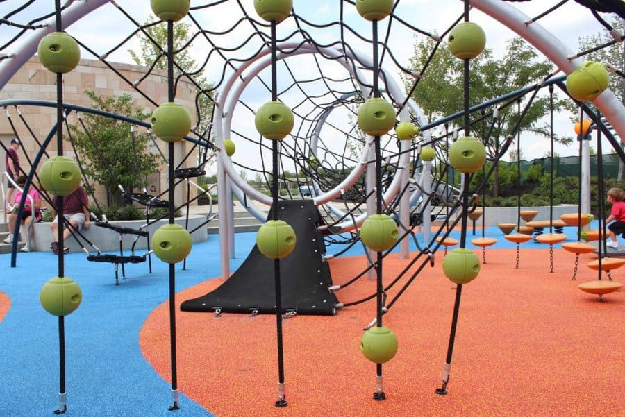 Inside the play structure at Summit Park in Blue Ash