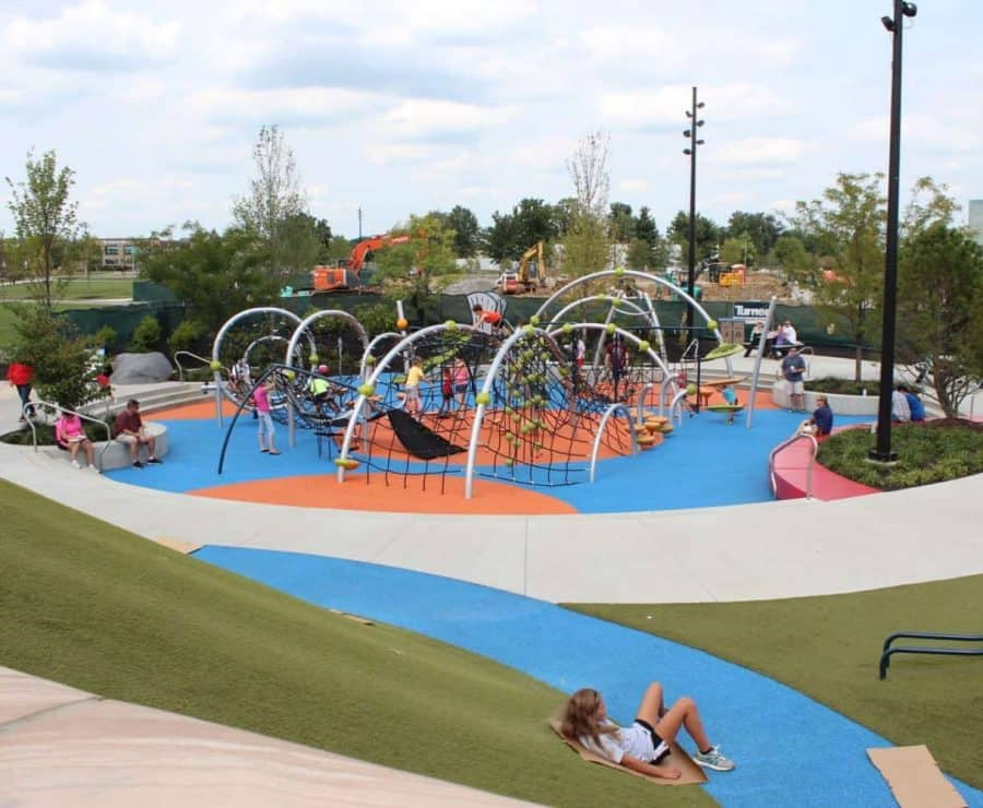 Overview of play area at Summit Park in Blue Ash