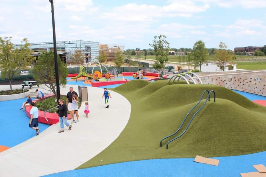 Overview of playground at Summit Park in Blue Ash