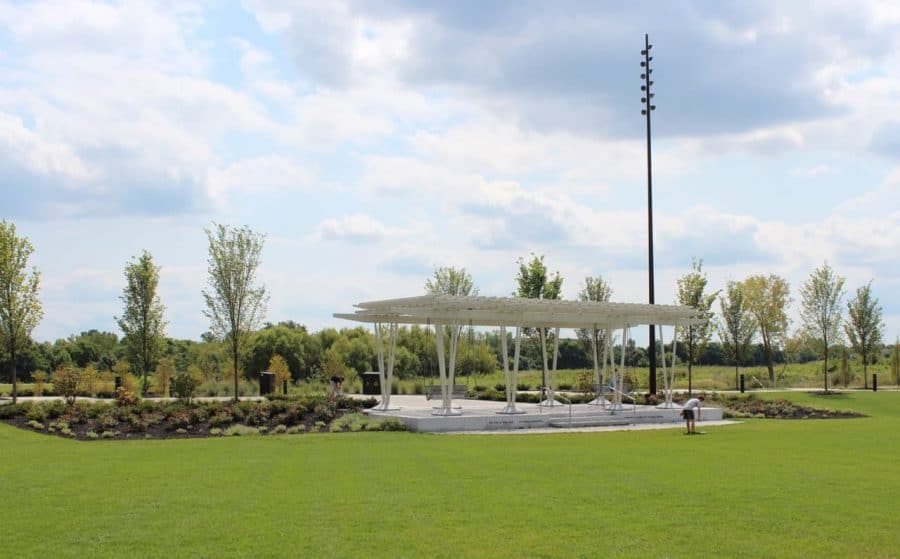 Patio on the lawn at Summit Park in Blue Ash