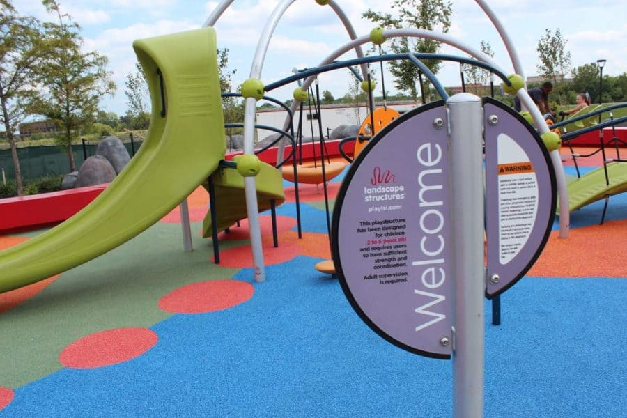 Playstructure for littles at Summit Park in Blue Ash