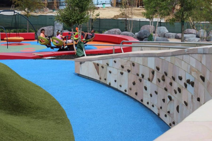 Rock wall at Summit Park in Blue Ash