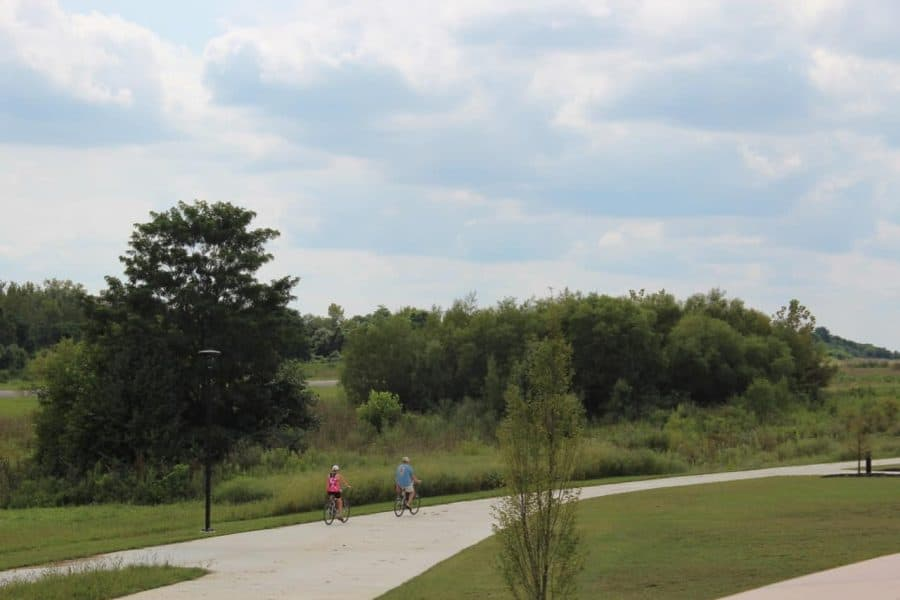 biking and walking trails at Summit Park in Blue Ash