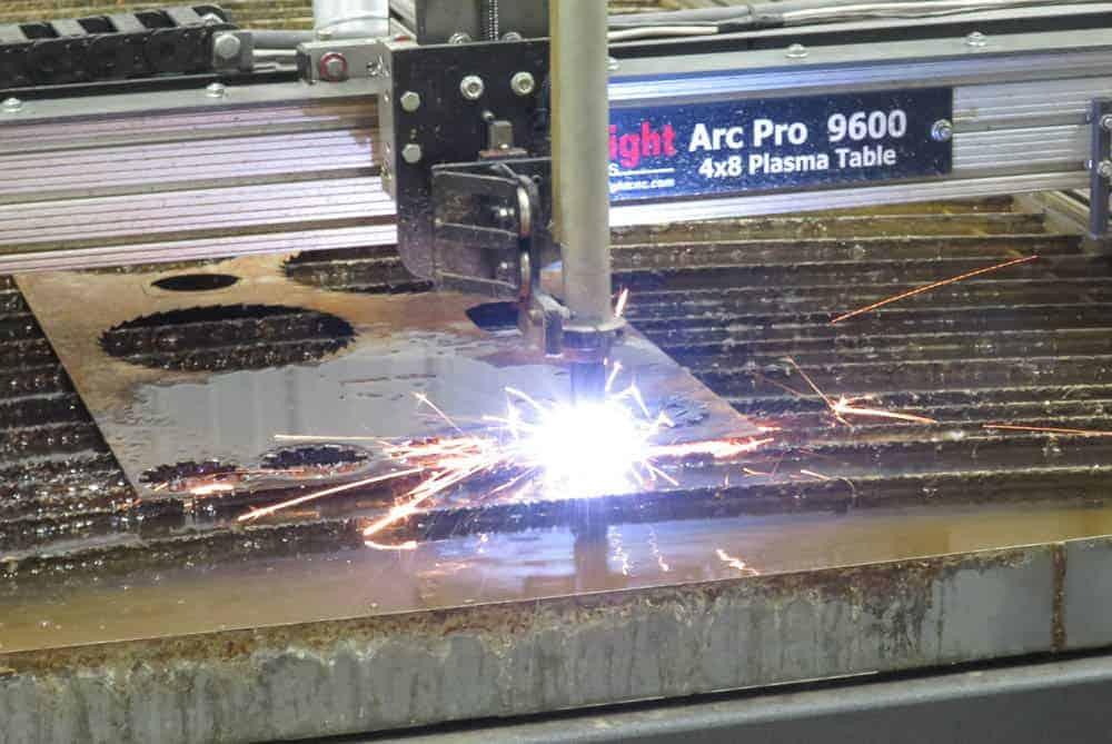 Cutting Metal at Manufactory