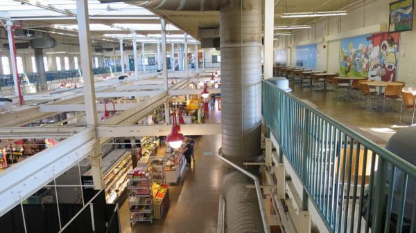 North Market seating on the second level
