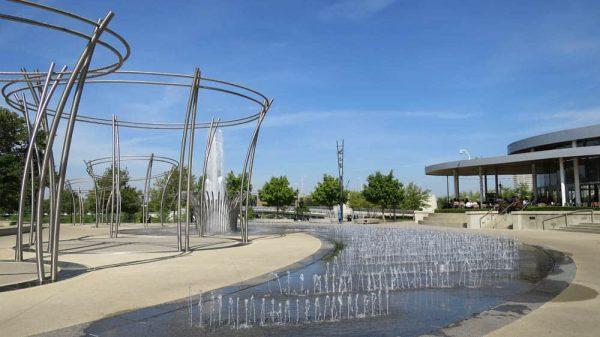Fountains at The Scioto Mile in downtown Columbus Ohio