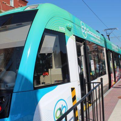The Cincinnati Streetcar Providing Transportation for Downtown