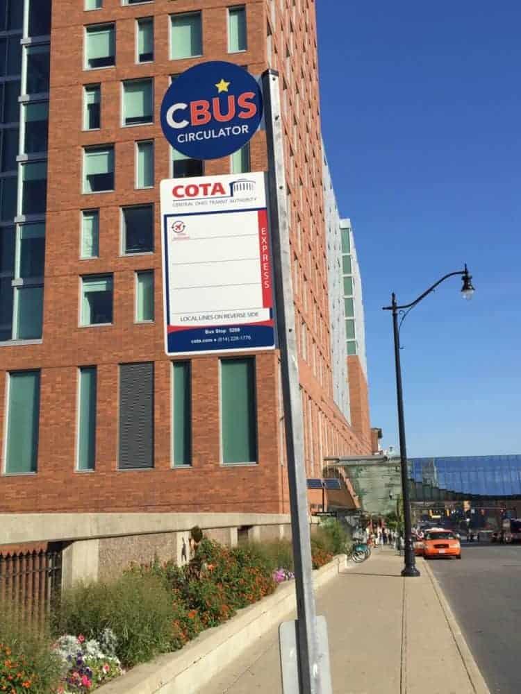 CBus Circulator Stop in Columbus Ohio