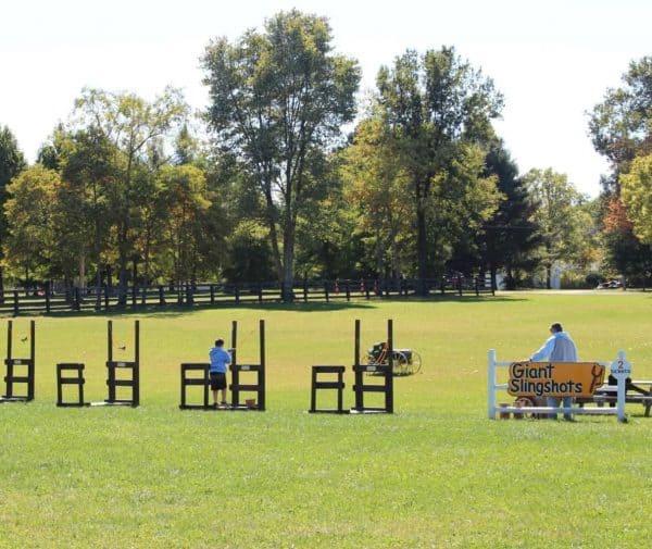 Giant Slingshots at Bonnybrook Farms