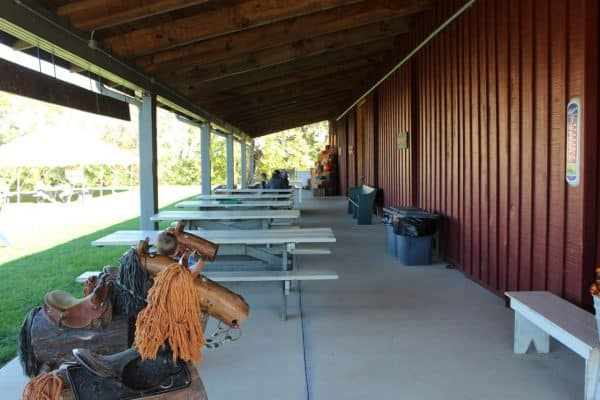 Outdoor seating at Bonnybrook Farms Fall Farm Days