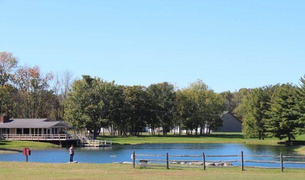 The lake at Bonnybrook Farms
