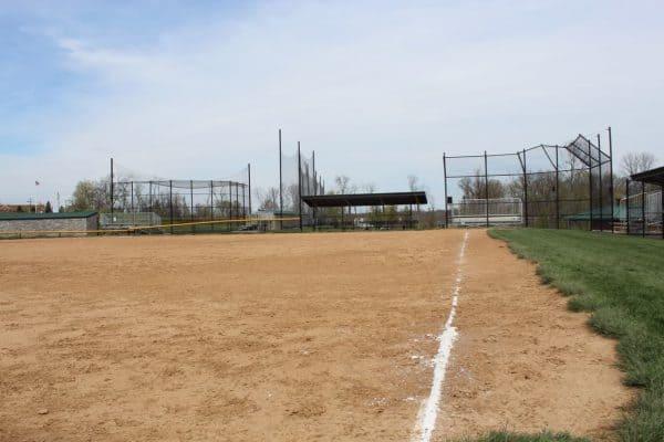 baseball fields at Bicentennial Park