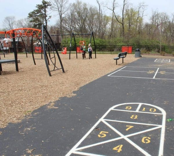 playground surrounding Hometown Huddle in Westwood