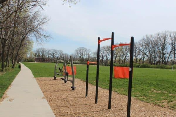 parcourse trail at Ryan Memorial
