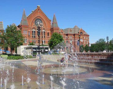 Music Hall and Washington Park