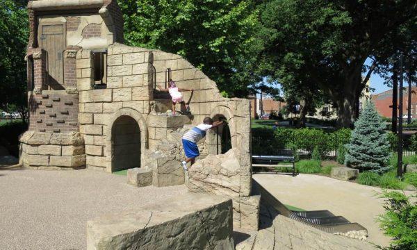 slides at Washington Park