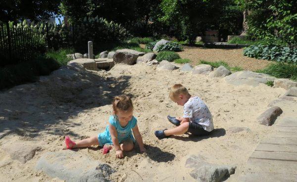 Sand at the Washington Park Playground
