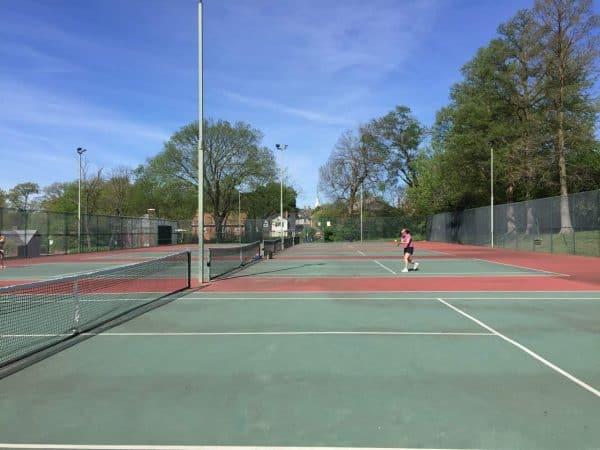 tennis courts in Pleasant Ridge