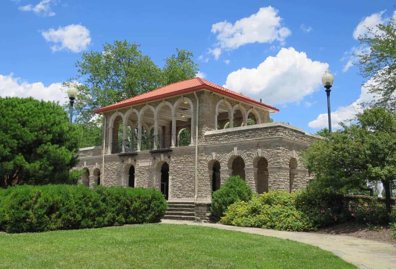 Alms Park Pavilion in Cincinnati Ohio