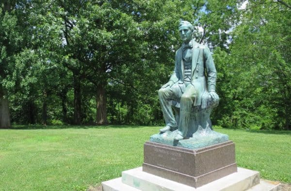 Stephen Foster statue at Alms Park in Cincinnati Ohio