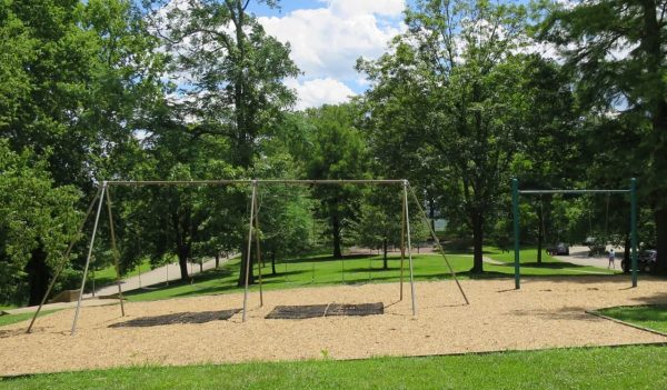 Swings at Alms Park in Cincinnati Ohio