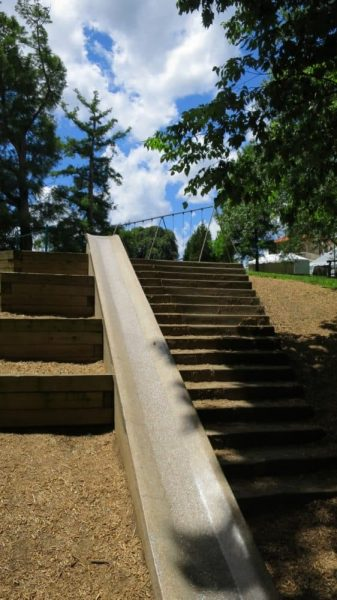 Cement slide at Alms Park in Cincinnati Ohio