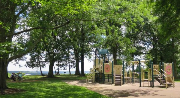 Playground at Alms Park in Cincinnati Ohio