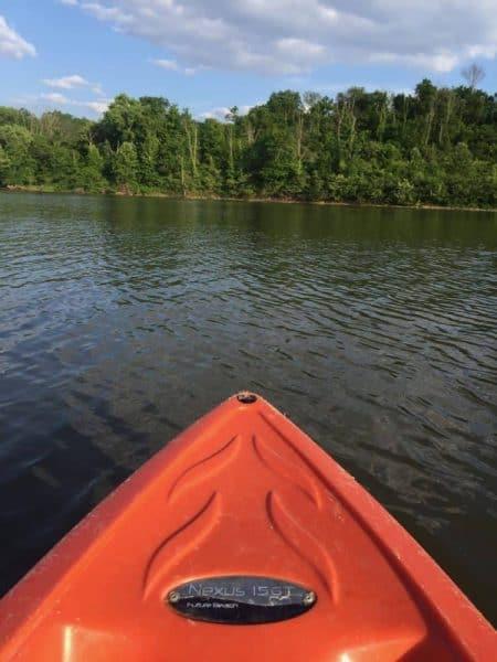 Kayaks at Winton Woods