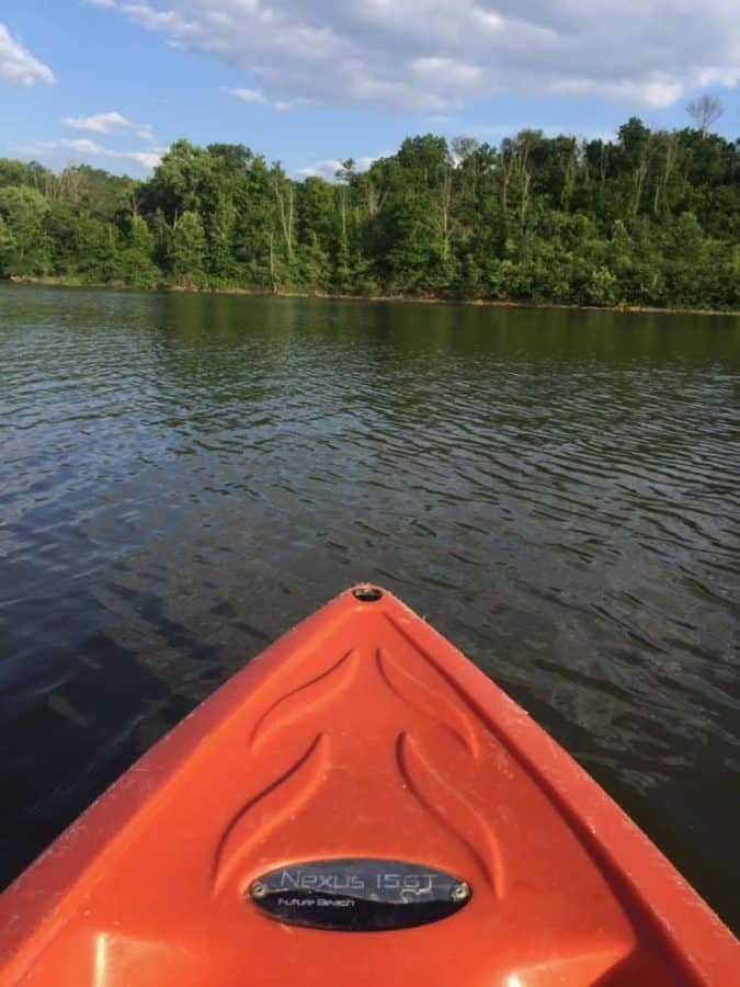 Kayaks at Winton Woods