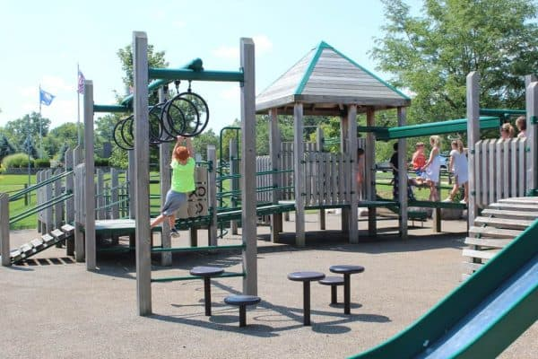Play Structures at Beech Acres Park in Anderson Township