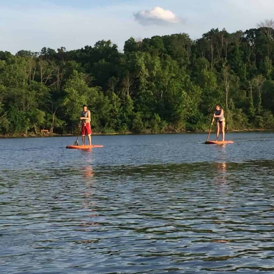 Paddle Boarding at Winton Woods