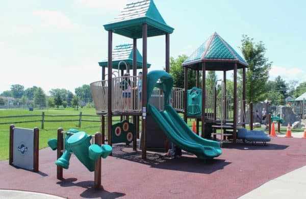 Playgrounds at Beech Acres Park in Anderson