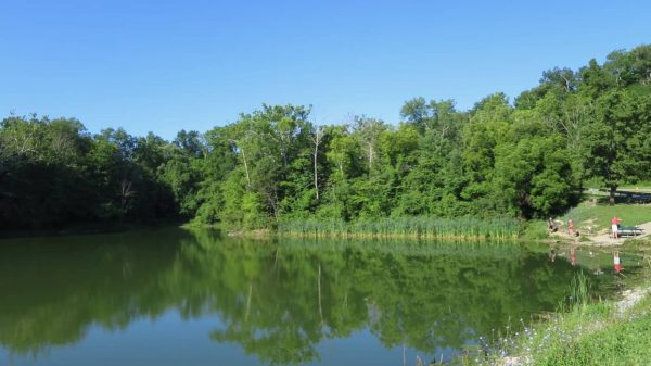 fishing lake at Devou Park