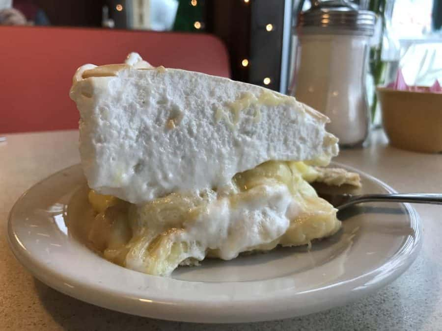 Banana Cream Pie at Hyde's in Hamilton Ohio