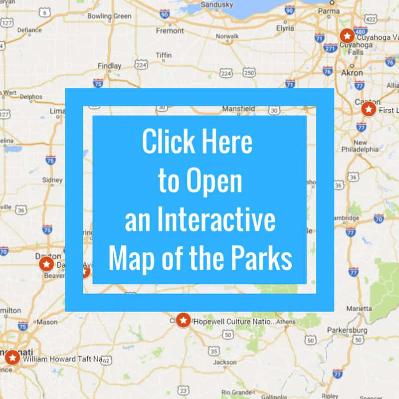 Ohio State Parks map