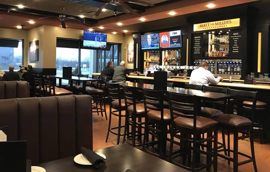 bar area at matt the Miller's Tavern in Cincinnati