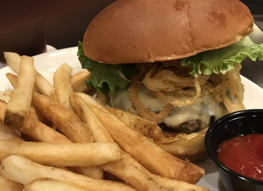 burger at Matt the Millers Tavern