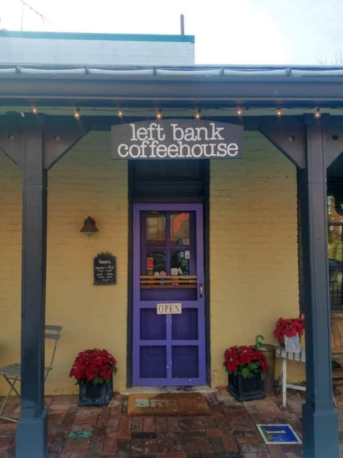 Left Bank Coffee House front door