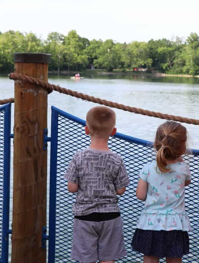 Kids on the Dock at Lake Isabella