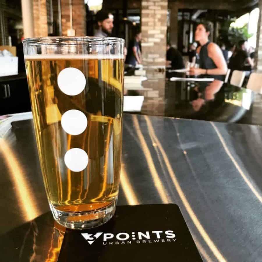 Beer at the bar - 3 Points Urban Brewery in Cincinnati