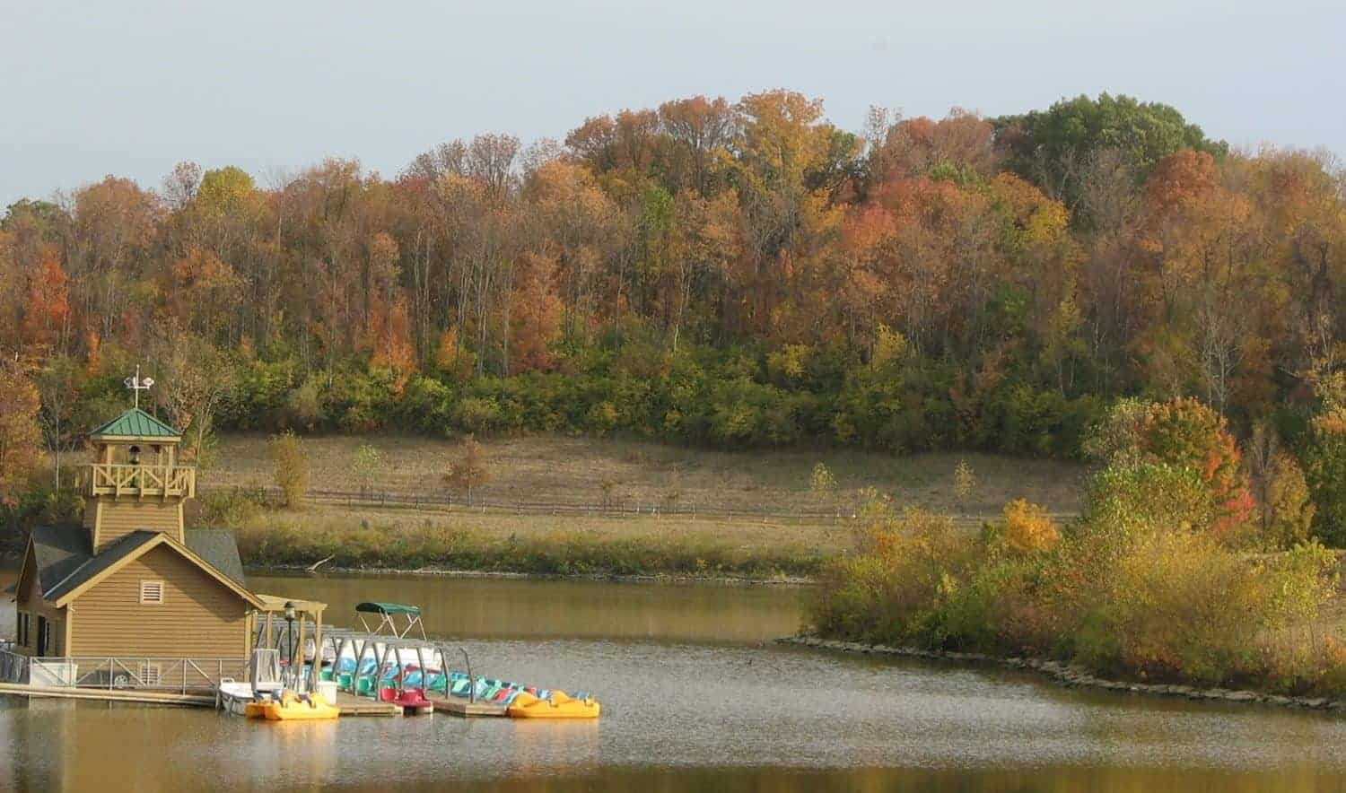 Winton Woods harbor in the fall, one of the Great Parks of Hamilton County