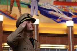 Soldier Saluting at Union Terminal
